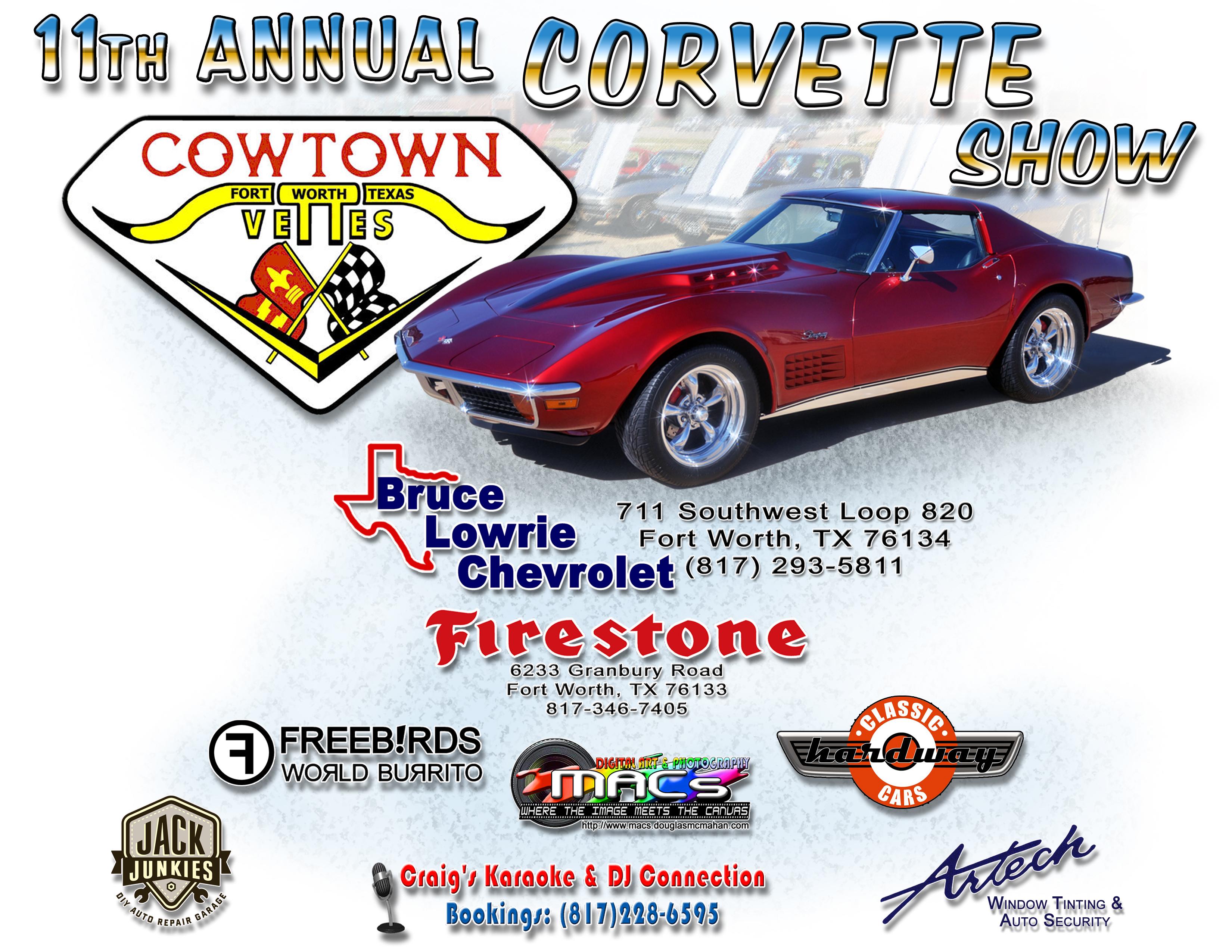 Cowtown Vettes - 16th Annual Car Show - 10/21/17 - Info