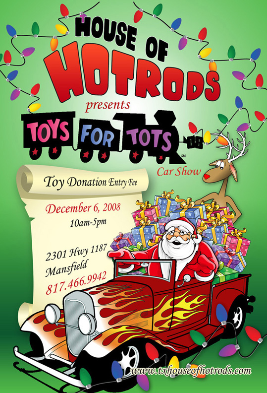 Toys For Tots Logo Flyer : Cowtown vettes misc car shows