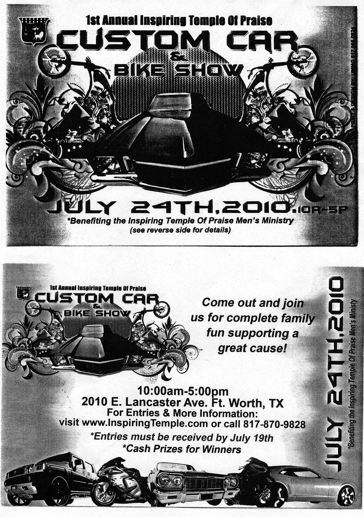 Cowtown Vettes Misc Car Shows - Blank car show flyer