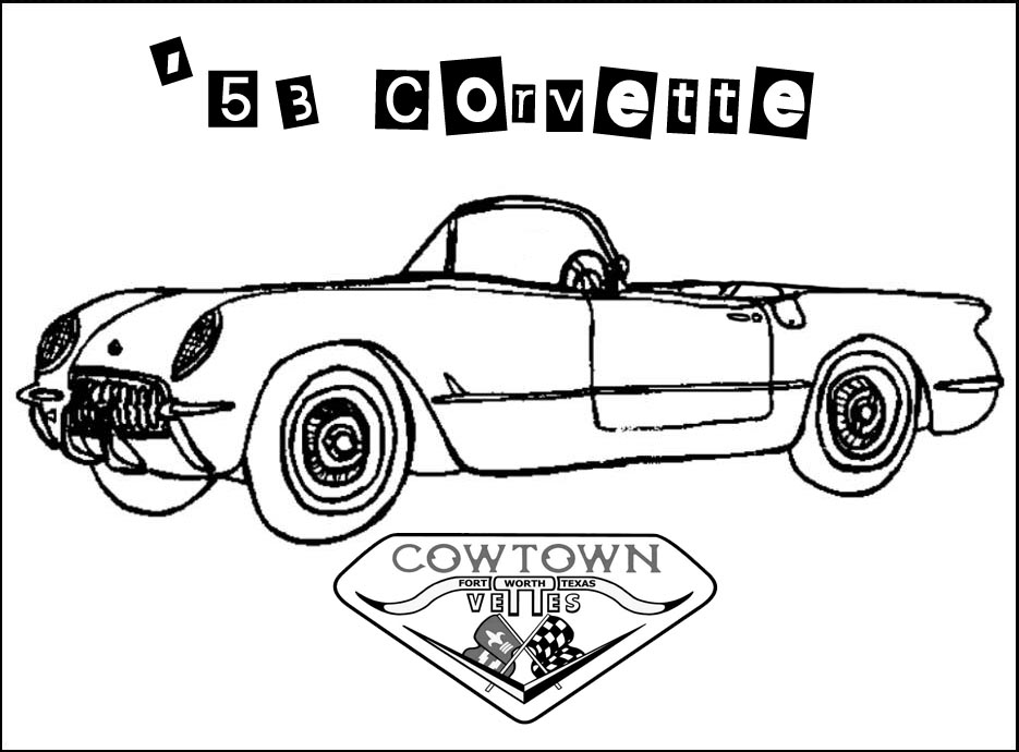 Cowtown Vettes - KIDS COLORING BOOK PAGES