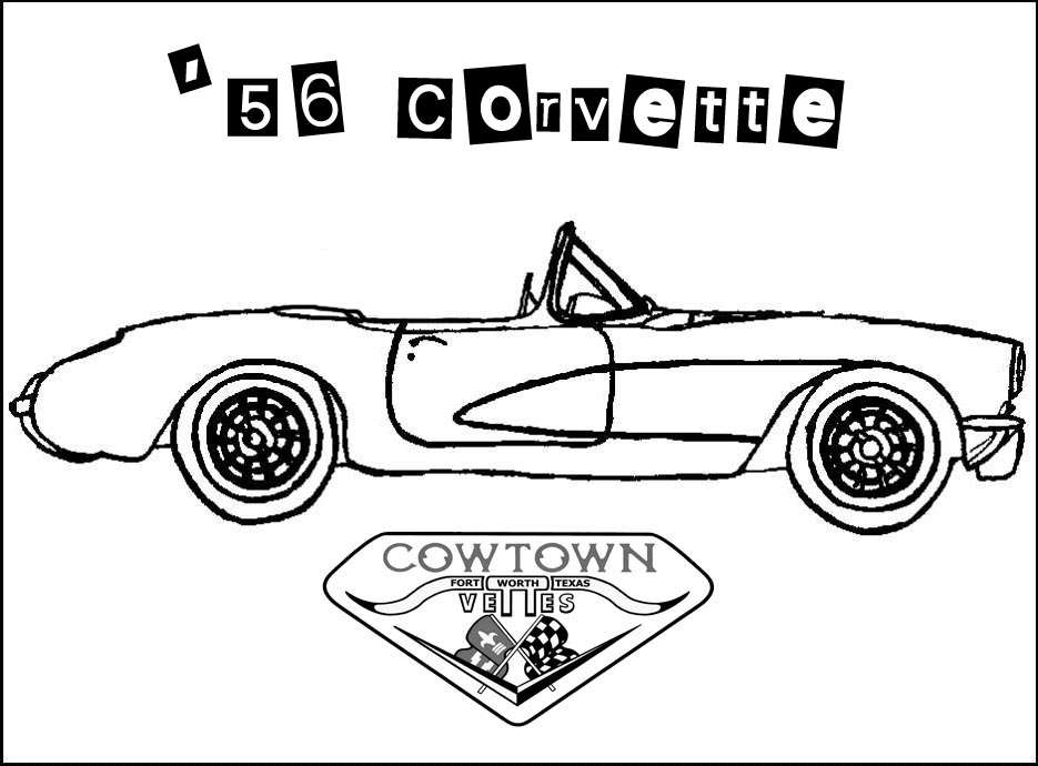 Corvette Coloring Pages Printable Coloring Pages Corvette Coloring Page